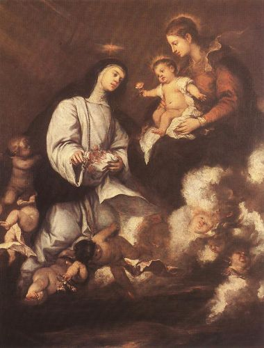 St Rose of Lima before the Madonna by Josè Claudio Antolinez