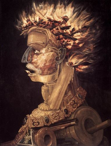 The Fire, 1566 by Giuseppe Arcimboldo