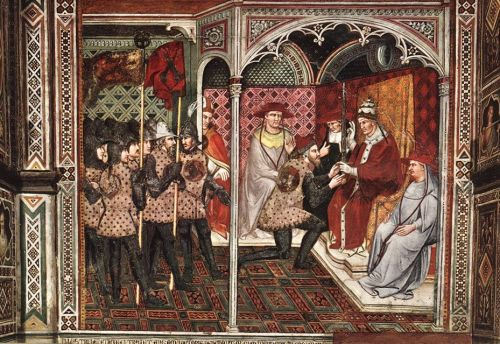 Pope Alexander III Receives an Ambassador, 1407 by Spinello Aretino
