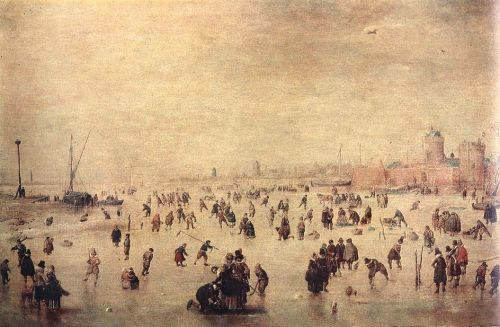 Skaters by Hendrick Avercamp