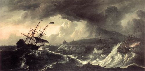 Ships Running Aground in a Storm, 1690 by Ludolf Backhuysen