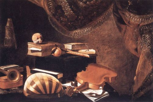 Still-life with Musical Instruments, 1650 by Evaristo Baschenis