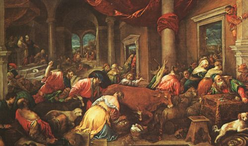 The Purification of the Temple, 1580 by Jacopo Bassano