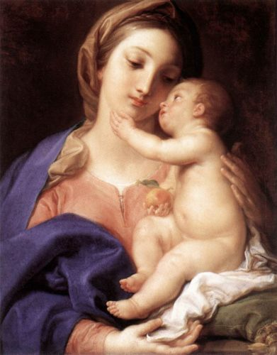 Madonna and Child, 1742 by Pompeo Batoni