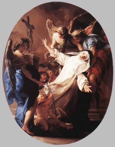 The Ecstasy of St Catherine of Siena by Pompeo Batoni