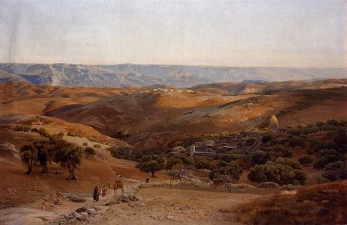 Mountains of Moab Seen from Bethany by Gustav Bauernfeind