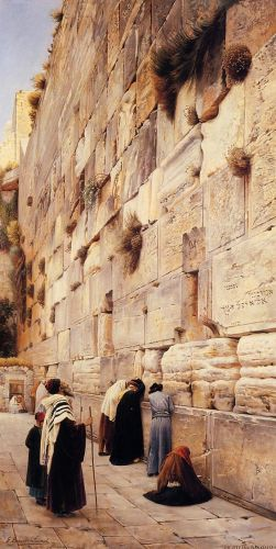 The Wailing Wall, Jerusalem, 1904 by Gustav Bauernfeind