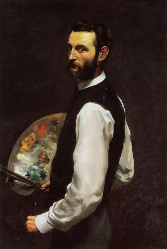 Self Portrait with Palette, 1865 by Frédéric Bazille