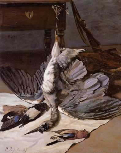 Still Life with Heron, 1867 by Frédéric Bazille