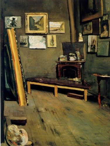 Studio of the Rue Visconti, 1867 by Frédéric Bazille