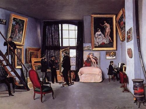 The Artist's Studio, 1870 by Frédéric Bazille