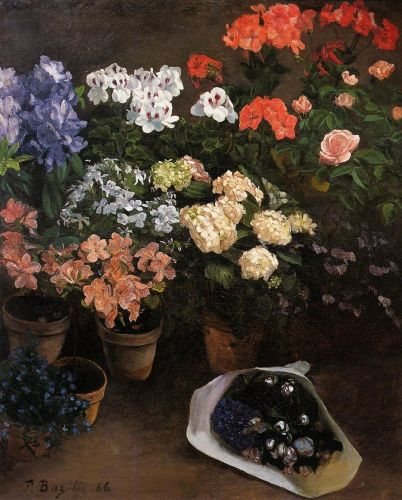 Study of Flowers, 1866 by Frédéric Bazille
