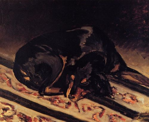 The Dog Rita Asleep, 1864 by Frédéric Bazille