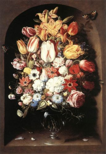 Bouquet in a Niche, 1603-1605 by Osias Beert