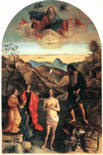 Baptism of Christ, 1500-1502 by Giovanni Bellini