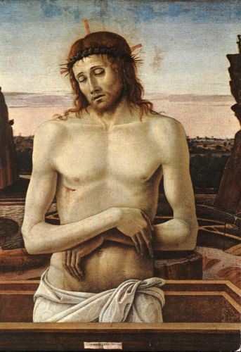 Dead Christ in the Sepulchre, 1460 by Giovanni Bellini