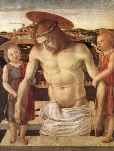 Dead Christ Supported by Two Angels, 1460 by Giovanni Bellini