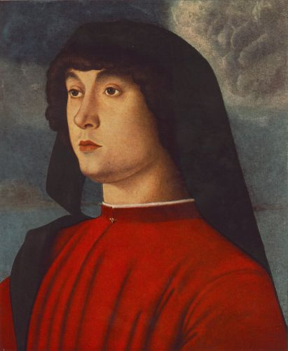 Portrait of a Young Man in Red, 1485-1490 by Giovanni Bellini