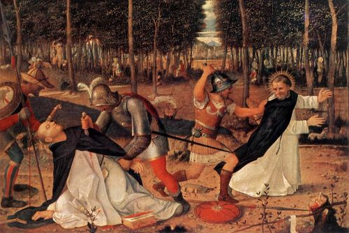 The Murder of St Peter the Martyr, 1509 by Giovanni Bellini