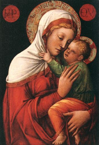 Madonna with Child, 1465 by Jacopo Bellini