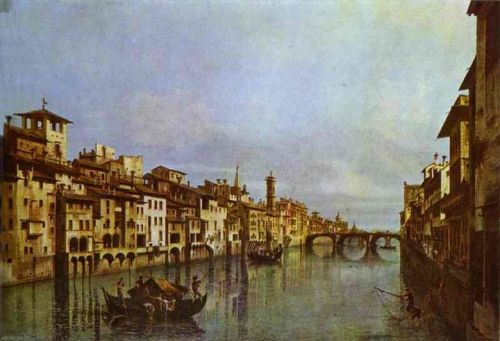 Arno in Florence, 1742 by Bernardo Bellotto