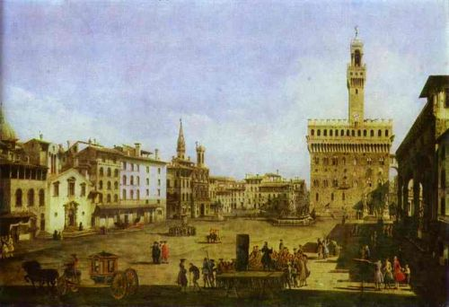 Signoria Square in Florence, 1741 by Bernardo Bellotto