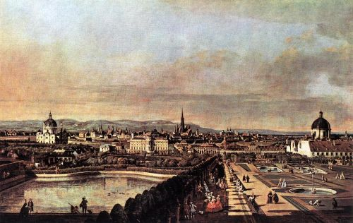 View of Vienna from the Belvedere, 1759 by Bernardo Bellotto