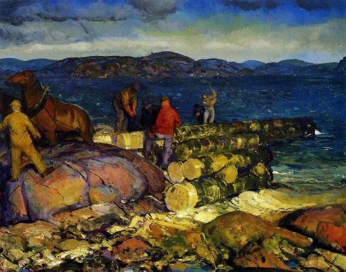 Dock Builders by George Bellows