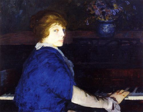 Emma at the Piano, 1914 by George Bellows