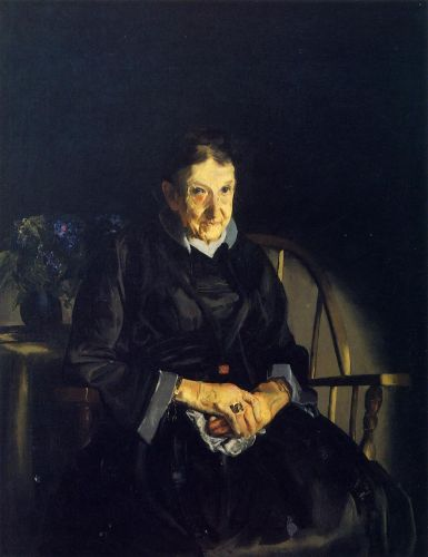 Aunt Fanny (Old Lady in Black), 1920 by George Bellows