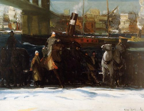 Snow Dumpers, 1911 by George Bellows
