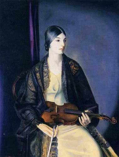 The Violinist (Leila Kalman), 1924 by George Bellows