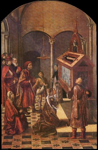 The Tomb of Saint Peter Martyr, 1495 by Pedro Berruguete