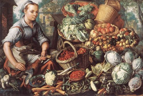 Market Woman with Fruit, Vegetables and Poultry, 1564 by Joachim Beuckelaer