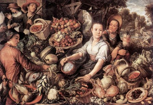 The Vegetable Market, 1567 by Joachim Beuckelaer