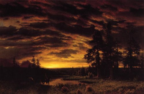 Evening on the Prarie, 1870 by Albert Bierstadt