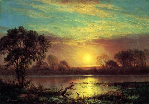 Evening, Owens Lake, California by Albert Bierstadt