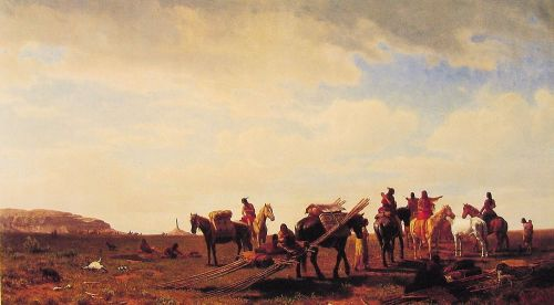 Indians Travelling Near Fort Laramie, 1861 by Albert Bierstadt