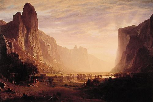Looking Down Yosemite Valley, California by Albert Bierstadt