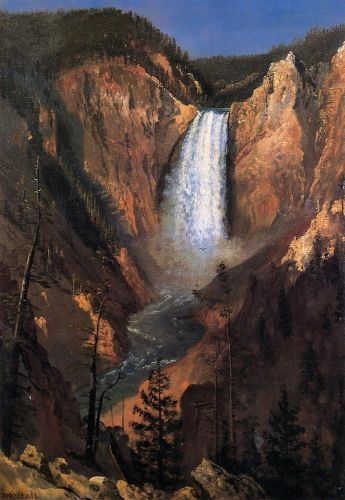 Lower Yellowstone Falls by Albert Bierstadt