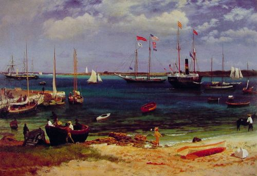Nassau Harbor, 1877 by Albert Bierstadt