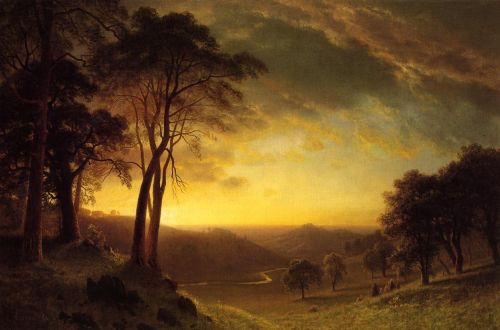 Sacramento River Valley, 1872 by Albert Bierstadt