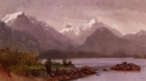 The Grand Tetons, Wyoming by Albert Bierstadt