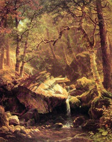 The Mountain Brook, 1863 by Albert Bierstadt
