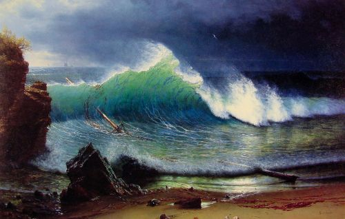 The Shore of the Turquoise Sea, 1878 by Albert Bierstadt