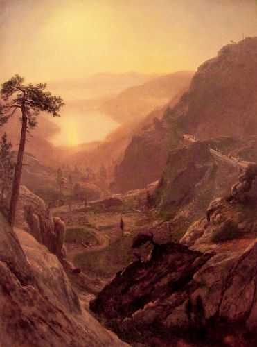 View of Donner Lake California, 1871 by Albert Bierstadt