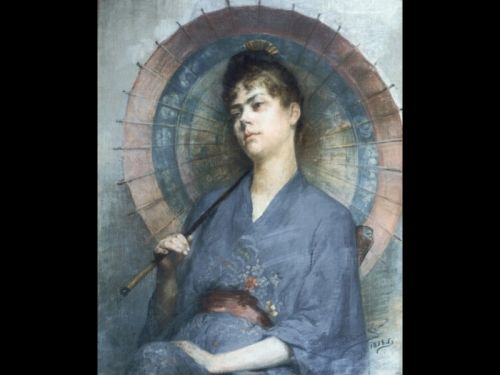 Woman with a Japanese Parasol by Anna Bilinska-Bohdanowicz