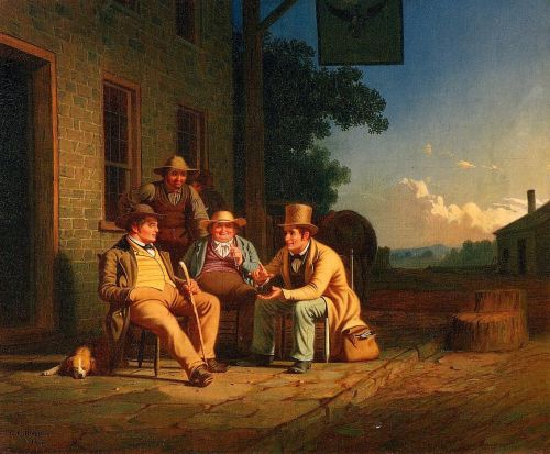 Canvassing for a Vote by George Caleb Bingham