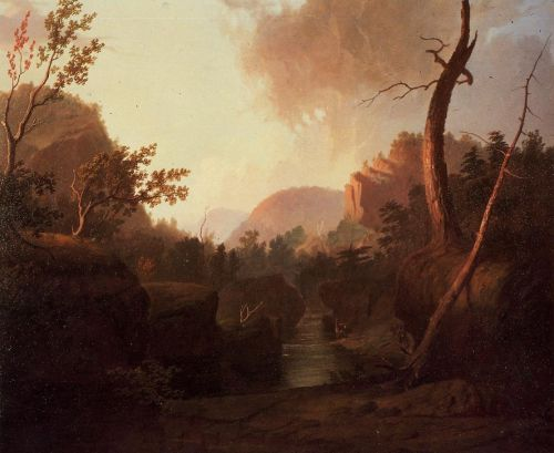 Deer in Landscape by George Caleb Bingham