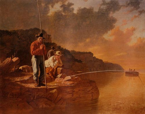 Fishing on the Mississippi by George Caleb Bingham